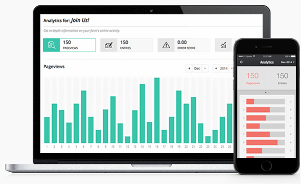 Zoho Forms comes with inbuilt reporting functions to analyse your data