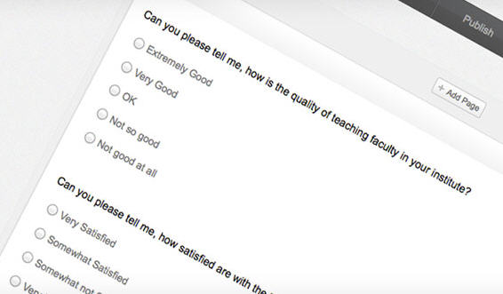 Zoho Survey comes with numerous prebuilt templates to help you start your online survey